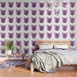 Crazy Cat Lady - Purple Wallpaper