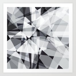 black and white multipolygon Art Print