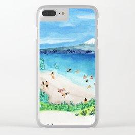 Mountain beach Clear iPhone Case