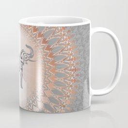 Rose Gold Gray Elephant Mandala Coffee Mug