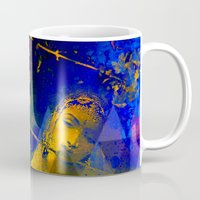 hindu Mugs featuring Shiva The Auspicious One - The Hindu God by sarvesh