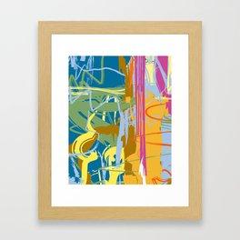 Web Maze | Pastel Abstract Art | Abstract art Prints Framed Art Print