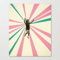 play Canvas Prints featuring Play by Cassia Beck