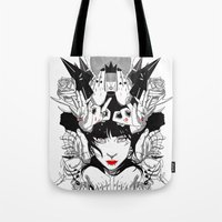 witchcraft Tote Bags featuring Witchcraft by Sergio Saucedo