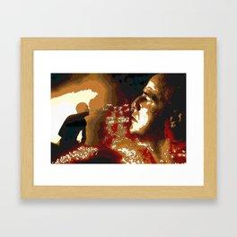 Death From Above Brando Apocalypse Now Framed Art Print