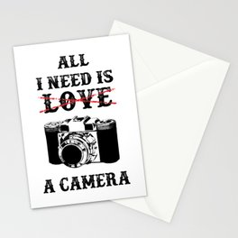All I Need Is Camera Stationery Cards
