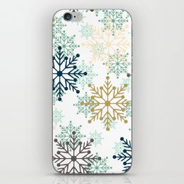 Christmas pattern with snowflakes. iPhone Skin