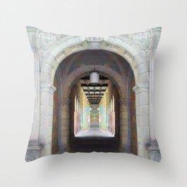 Corridor of Pillars Throw Pillow
