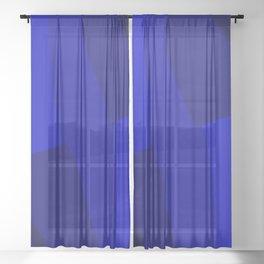 Just Blue #decor #society6 Sheer Curtain