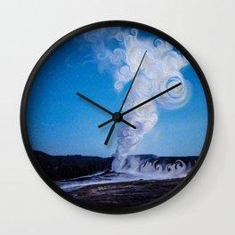 Old Faithful & Full Moon Wall Clock