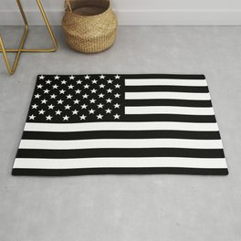 Black And White Stars And Stripes Rug
