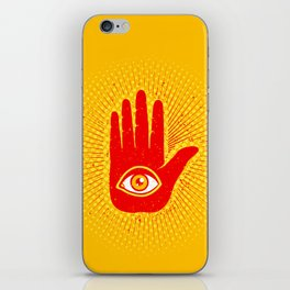 Hand and eye iPhone Skin