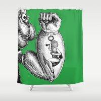 popeye Shower Curtains featuring Popeye & Annie Anchor by C. Mark Burt