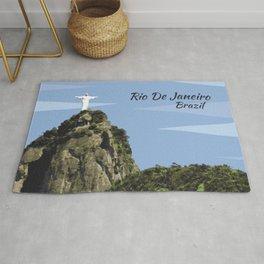 Christ the redeemer Rio De Janeiro Brazil Rug