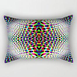 Psychedelic Circles Rectangular Pillow