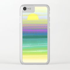 Sun Summer Clear iPhone Case