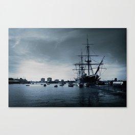Ship The Warrior HMS 1860 Canvas Print