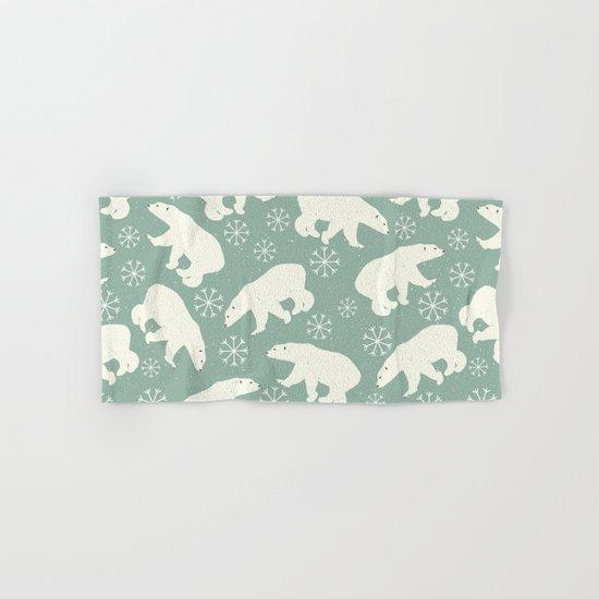 Merry Christmas - Polar bear - Animal pattern Hand & Bath Towel