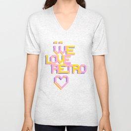We Love Retro Unisex V-Neck