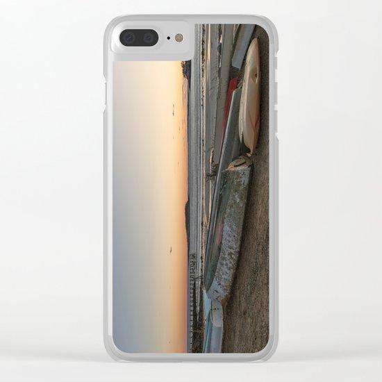 Magnolia Sunset Clear iPhone Case