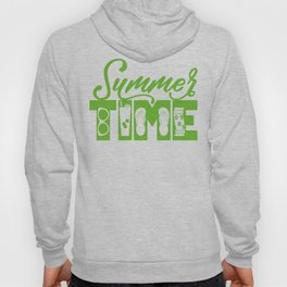Summer TIME at the Pool Green Hoody