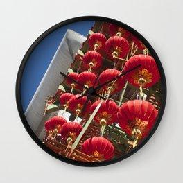 Paper Lanterns Wall Clock