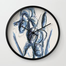 Lili flowers in spring Wall Clock