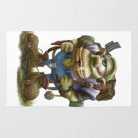 cyclops Area & Throw Rugs featuring Cyclops Moblin by Denzel A Jackson