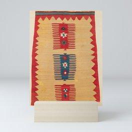 Parmakli Kütahya West Anatolian Kilim Print Mini Art Print