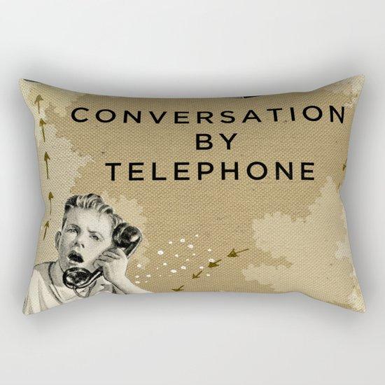 Conversation by Telephone Rectangular Pillow