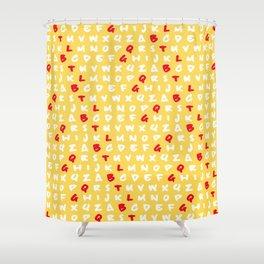 Abc's yellow Shower Curtain