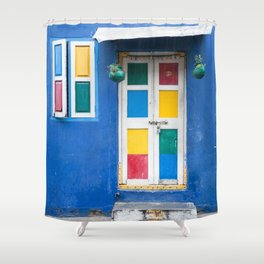 Colorful Indian Door Shower Curtain