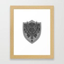 D&D Dragon Crest Framed Art Print