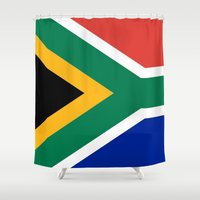 south africa Shower Curtains featuring National flag of the Republic of South Africa - Authentic by LonestarDesigns2020 is Modern Home Decor