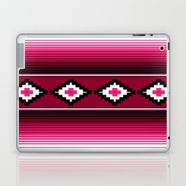 Modern Mexican Serape in Magenta Laptop & iPad Skin