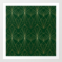 Art Deco in Gold & Green Kunstdrucke