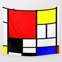 mondrian Wall Tapestries featuring Mondrian by Fine2art