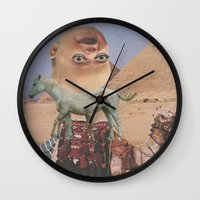 desert Wall Clocks featuring Desert by Jon Duci