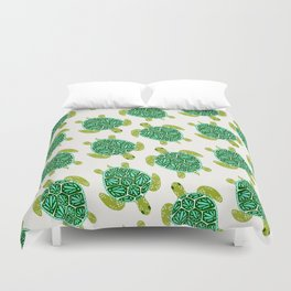 Sea Turtle – Green Palette Duvet Cover