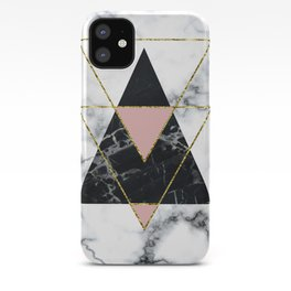 Geo glam marble iPhone Case