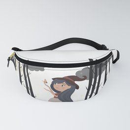 Witch girl forest Fanny Pack