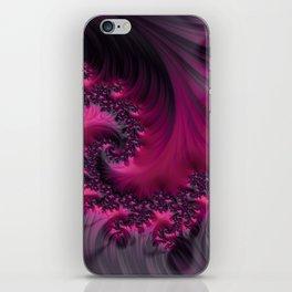Twisting Dark Raspberry Ripple iPhone Skin