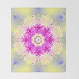 Pastellish Kaleidoscope Throw Blanket