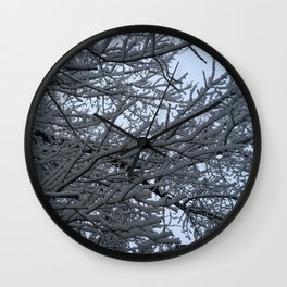 Tree at snow. Wall Clock