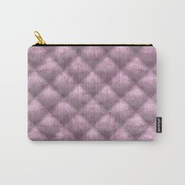 Quilted Pale Mauve Velvety Pattern Carry-All Pouch