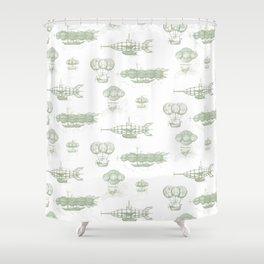 Airship Pattern Shower Curtain