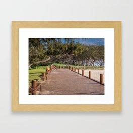 Beachside Boardwalk Framed Art Print