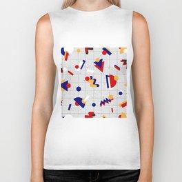 Memphis geometric pattern Biker Tank