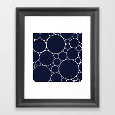 Floating Dots Framed Art Print