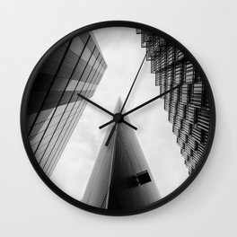 Modern Buildings London Finance Abstract Wall Clock